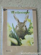 Nwt/Bunny Rabbit Large House Flag/Brand New/28 x 40/Welcome/Flowers/Super Cute!