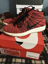 half off 0f838 e090f Nike Flyknit Chukka Red Burgandy Size 8 Slightly Used