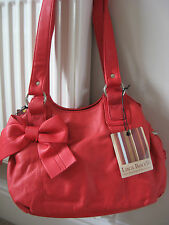 NEW WOMEN'S BAG LUCA BOCELLI GENUINE LEATHER SHOULDER HANDBAG RED rrp £75