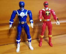 Lot of Incomplete Legacy Power Rangers Figures: Blue MMPR & Red Dino Charge 2016