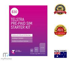 Telstra $30 Prepaid Sim Unlimited Standard National Calls & Text/data* all size