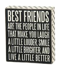"""Primitives by Kathy Box Sign """"Best Friends Are the People In Li... Free Shipping"""