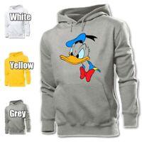 Cartoon Disney Donald Duck Angry Face Mens Womens Hoodies Sweatshirt Hoody Tops