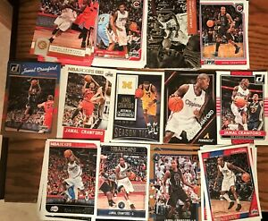 JAMAL CRAWFORD RESALE LOT (120) TOTAL CARDS W/ 13 DIFFERENT 12-13 TO 17-18