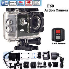 RICH F60 Waterproof Action Camera 4K/30fps Remote 16MP WiFi Hero 4 Style Cam DVR