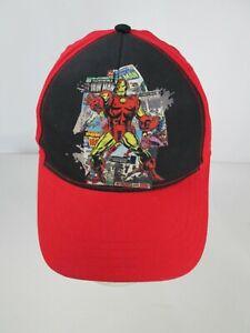 Marvel Kids IRON MAN Baseball Cap Hat Adjustable Red Black