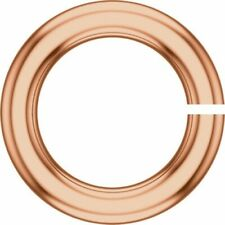 8mm SOLID 14k ROSE Gold 16ga gauge OPEN Thick Heavy Jump Ring JewelryMaven USA