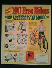 1966 Western Auto's Accessory Bicycle Comic Flyer Deluxe Tank Model Bike AD
