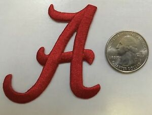 "alabama patch crimson tide A patch  Alabama A iron on  2.25"" tall  Alabama patch"