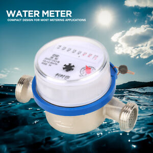 """15mm 1/2"""" Compact Single-Jet Cold Water Flow Dry Meter Table Measuring Tools Set"""