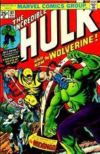 "MARVEL INCREDIBLE HULK #181 COMIC BOOK (2.5"" X 3.5"" FRIDGE MAGNET) 1ST Wolverine"