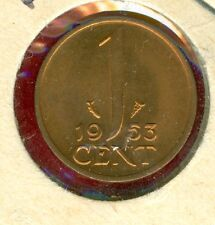 NETHERLANDS 1953 CENT--UNCIRCULATED