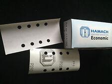 HAMACH -Economic- Schleifstreifen 81x166mm P280 (100 Stk.) 8 Loch