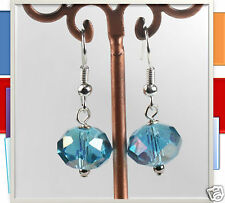 12mm Blue colour Faceted Crystal Earrings, fashion accessories
