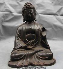Chinese Buddhism Fane Old Copper Bronze Tathagata RuLai Amitabha Buddha Statue