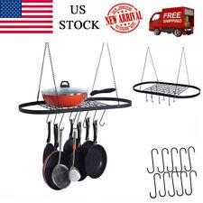 Kitchen Storage Pot And Pan Rack Hook Holder Hanging Kitchen Organizer 10 Hooks