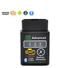 ELM327 HH OBD Advanced Bluetooth V2.1 ODB2 OBDII Auto Diagnostic Scanner Android