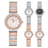 Women Fashion Quartz Quartz Watch Crystal Dial Stainless Steel Strap Wristwatch