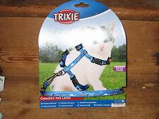 TRIXIE CAT PATTERN MOFFIT ADJUSTABLE KITTY HARNESS & LEAD SUIT RABBITS FERRET D