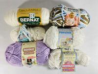 Lot of 6 Skeins BERNAT Yarn for Knitting Crocheting