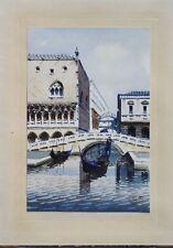 Aquarelle ancienne Venise par L Rizzi
