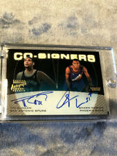 1999-2000 TOPPS STADIUM CLUB TIM DUNCAN SHAWN MARION CO SIGNERS AUTO Spurs Suns