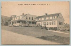 Franconia New Hampshire~Sugar Hill Caramat Terrace inn~1930-40 Sepia Litho