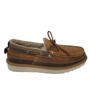 Ugg 1106811 Dex Slip On Wool Loafer Slippers Soft Comfy Designer Brown Size 8.5