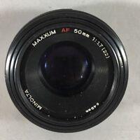 Maxxum AF 50mm 1:1.7(22) Lens for Sony Minolta AF - Tested EXC E20
