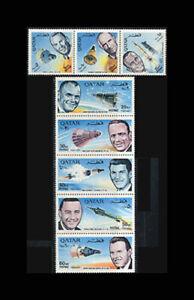 Qatar, Sc #104c-j, MNH, 1966, Space, Glenn, Shepard, Grissom, Schirra, A5FSID-A