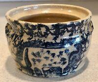 Becky Mummert Crock Stoneware Pottery Sugar Bowl Spongeware               PH0497