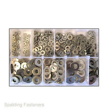 "Assorted 1/8"" To 1/2"" Imperial A2 Stainless Steel Flat Washers"