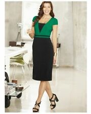 Work Patternless Short Sleeve Synthetic Dresses for Women
