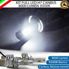 KIT FULL LED LAMPADE H7 6500K BIANCO 8000 LM XENON CANBUS FIAT 500L 500 L
