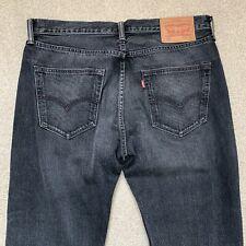 LEVI 501 Jeans Mens Black Denim W34 L30 Straight Leg Regular Fit Cotton VGC