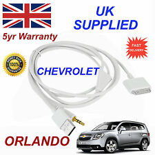CHEVROLET ORLANDO OX0467904 3GS 4 4S iPhone iPod USB & Aux Audio Cable white