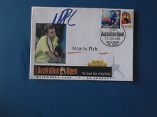 2003 Australian Open Tennis Ses Pstamp Cover Melb Park Pmk Signed Mardy Fish