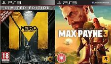 METRO LAST LIGHT LIMITED EDITION & MAX PAYNE 3 NUOVO e SIGILLATO