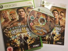 XBOX 360 GAME WWE LEGENDS OF WRESTLE MANIA WRESTLEMANIA COMPLETE PAL rock hulk