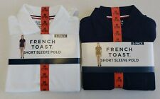 2 Pk French Toast Girls Short Sleeve Polo Official Schoolwear w/Detailed Collar