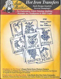 "AUNT MARTHA'S HOT IRON TRANSFERS  "" Fancy Fruit ""  # 3787"