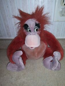 "Disney Jungle Book Plush Soft Stuffed King Louie Animal 12"""