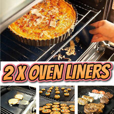 2 Heavy Duty Teflon Oven Liner Protector Sheet Mat Non Stick Reusable Cooker BBQ