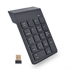 2in1 2.4GHz Wireless Calculator USB Numeric Keypad Numpad Number 18 keys PC AP9