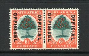 South Africa - 1935-49, 6d Green & Red-Orange (Die III) (Official) (sgO24d) Mint