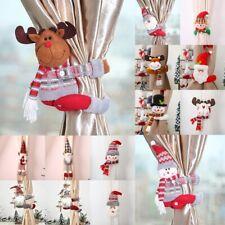Christmas Curtain Strap Buckle Holder Tieback Santa Clips Window Decor Festival
