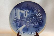 "Bing Grondahl Blue 1968 Jule After Annual Collector 7"" Plate Christmas In Church"