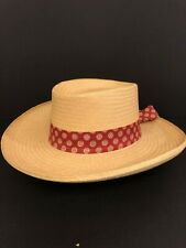 Mexico Sombrero Dress Size 58 7 1/4 Natural Straw Hat in Perfect Condition