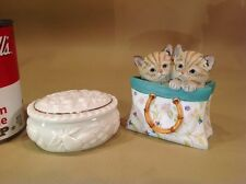 2 Vintage Lenox Pieces 1998 Dish With Lid & 2005 A Tote For Two