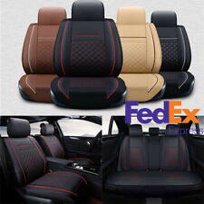 Black & Red PU Leather Car Seat Covers  Four-layered Durable Comfort Waterproof